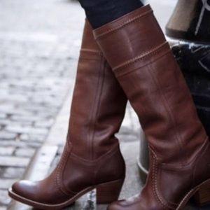 FRYE JANE 14L Boots Redwood Leather 77230